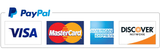 PayPal accepts most credit cards